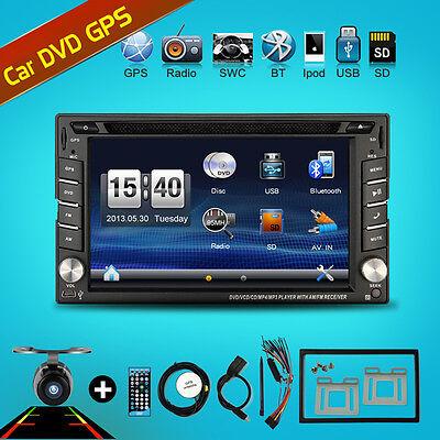 "6.2"" 2 DIN Autoradio GPS NAVI Bluetooth Touch Screen DVD CD MP3 Player USB SD"