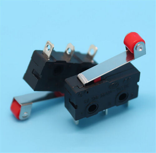 5Pcs//Set Micro Roller Lever Arm Open Close LimitSwitch KW12-3 PCB Microswitch TT