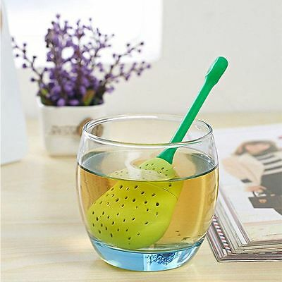 Style Sale Leaf New Pear Silicone Tea Strainer Infuser Spice Pear Design