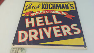 Vintage Freakshow  Sideshow Circus Hell Drivers  Daredevil Motorcycle   Banner