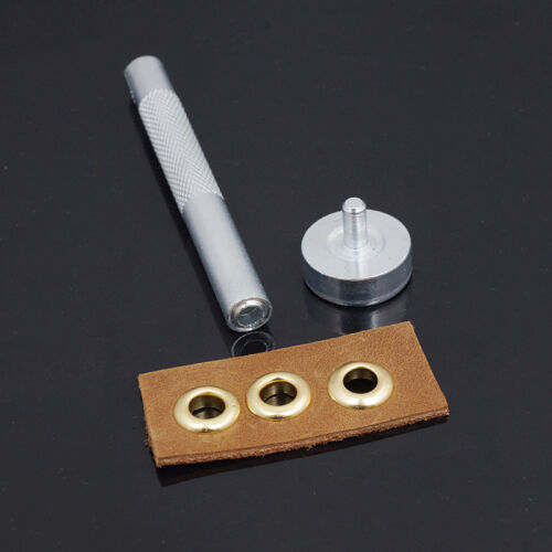 Eyelets Punch Die Setting Tool Kit For Leather craft Clothing Banner Grommet