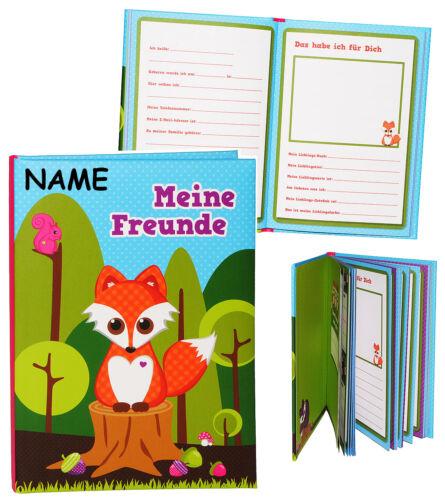 """P Meine Freunde Buch /"""" Fuchs /& Waldtiere /"""" für Schulfreunde /& Kindergarten"""