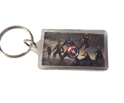 Marvel Avengers Age of Ultron Cast Group Lucite Key Ring Keychain