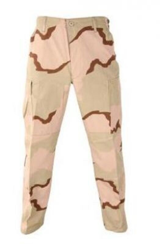 US Army DCU desert combat uniform pants trousers pantaloni ml Medium Long