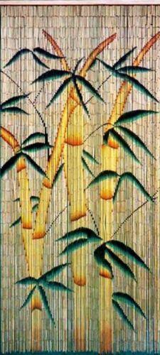 Bamboo Beaded Door Curtain Moso Bamboo Plant on Natural