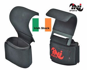INI-Power-Weight-Lifting-Training-Gym-Hook-Bar-Strap-Padded-Wrist-Support-Strap