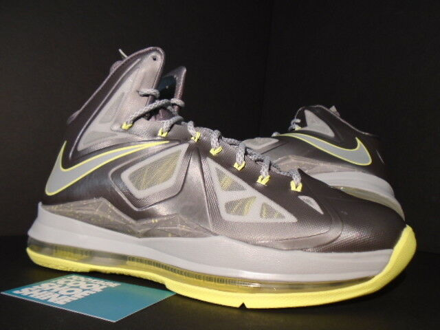 Nike Air Max LEBRON X 10 CANARY SPORT GREY STRATA ELECTRIC YELLOW 541100-007 8.5