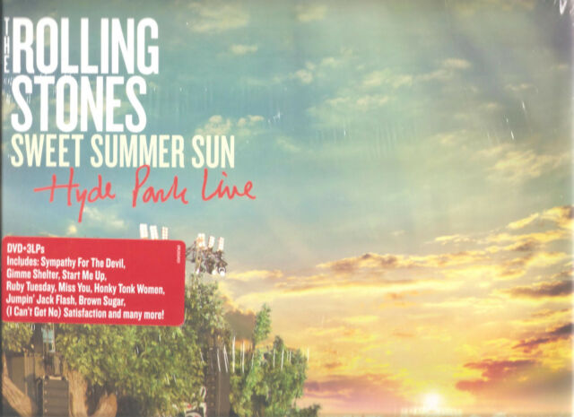 "ROLLING STONES ""Sweet Summer Sun - Hyde Park Live "" 3 LP + DVD US LP sealed"