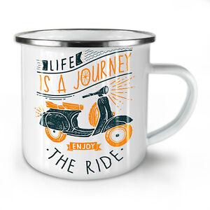 Life Is Journey NEW Enamel Tea Mug 10 oz | Wellcoda