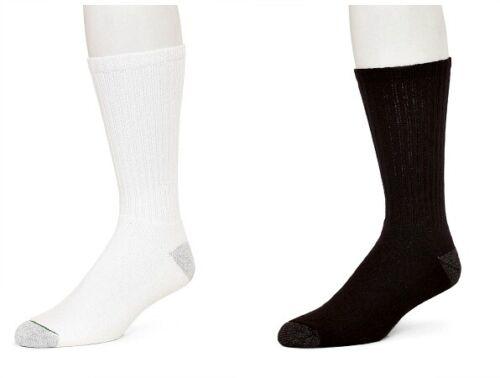 12  PAIRS CAROLINA/'S BEST ATHLETIC COMFORT FIT CREW SOCKS WHITE