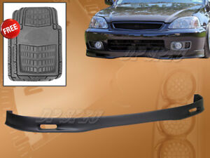 FOR 99-00 CIVIC SPOON PU POLYURETHANE FRONT /& REAR LIP SPOILER FREE FLOOR MAT