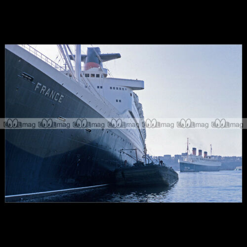 #php.03129 Photo PAQUEBOT SS FRANCE /& RMS QUEEN MARY CUNARD OCEAN LINER