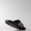 Adidas-Duramo-Mens-Slides-Flip-Flops-Pool-Beach-Slippers-Black-Navy-Blue-Stripes miniatura 5