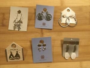 8-Pair-Lot-New-Nautical-amp-Summer-Earrings-Shell-Boat-Hoop-Drop-Button-Stud-539