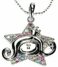 w Swarovski Crystal ~Guardian Angel of God ~Princess Crown Star Pendant Necklace