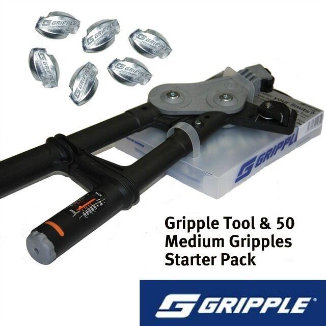 Gripple Torq herramienta & 50 Gripple Starter Pack-Cable de tensión valla Esgrima