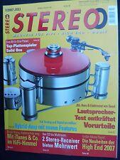 STEREO 7/07 ASC AS 3000,QUAD ESL 2905,JBL 1400 ARRAY,ROTEL RX 1052,MUSIC HALL TR