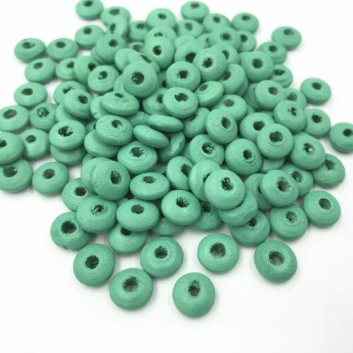 À faire soi-même 100pcs en bois Spacer Beads Jewelry Making Kids Toy Crafts Accessories 9 mm