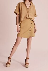 Country-Road-Button-Detail-Skirt-Cinnamon