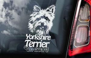 Yorkshire-Terrier-a-Bordo-Coche-Ventana-Pegatina-Yorkie-Signo-Regalo-V03