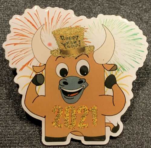 ON SALE ** Exclusive Amazon Peccy  New Years 2021 OX Collector Enamel Pin