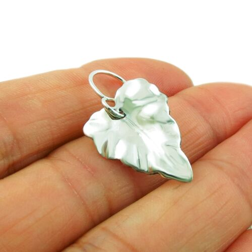 Curved Leaf 925 Sterling Silver Polished Drop Earrings