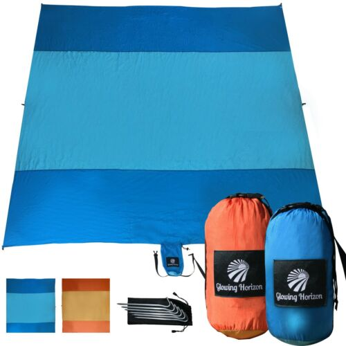 Durable Parachute Nylon Sand Free Beach Mat Blanket X Large//Compact Storage Bag