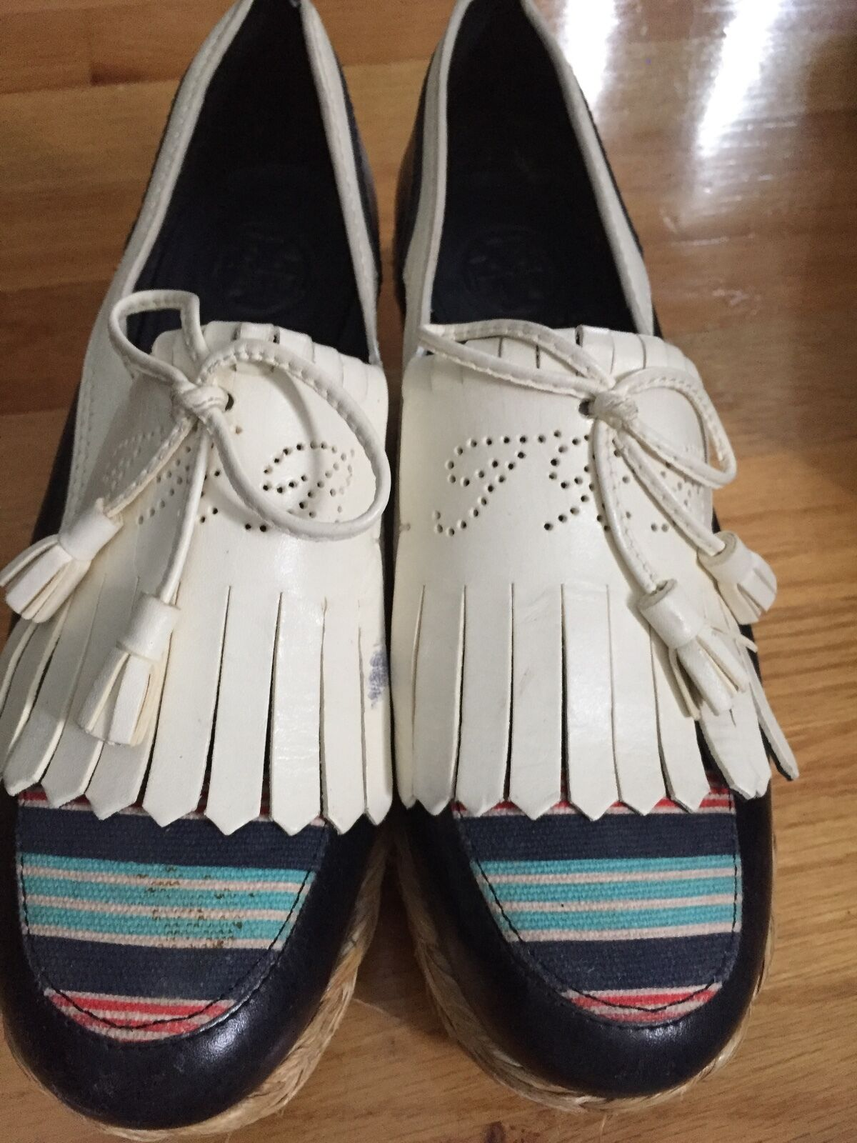Tory Burch Wedge Größe heels , Größe Wedge 7 029691