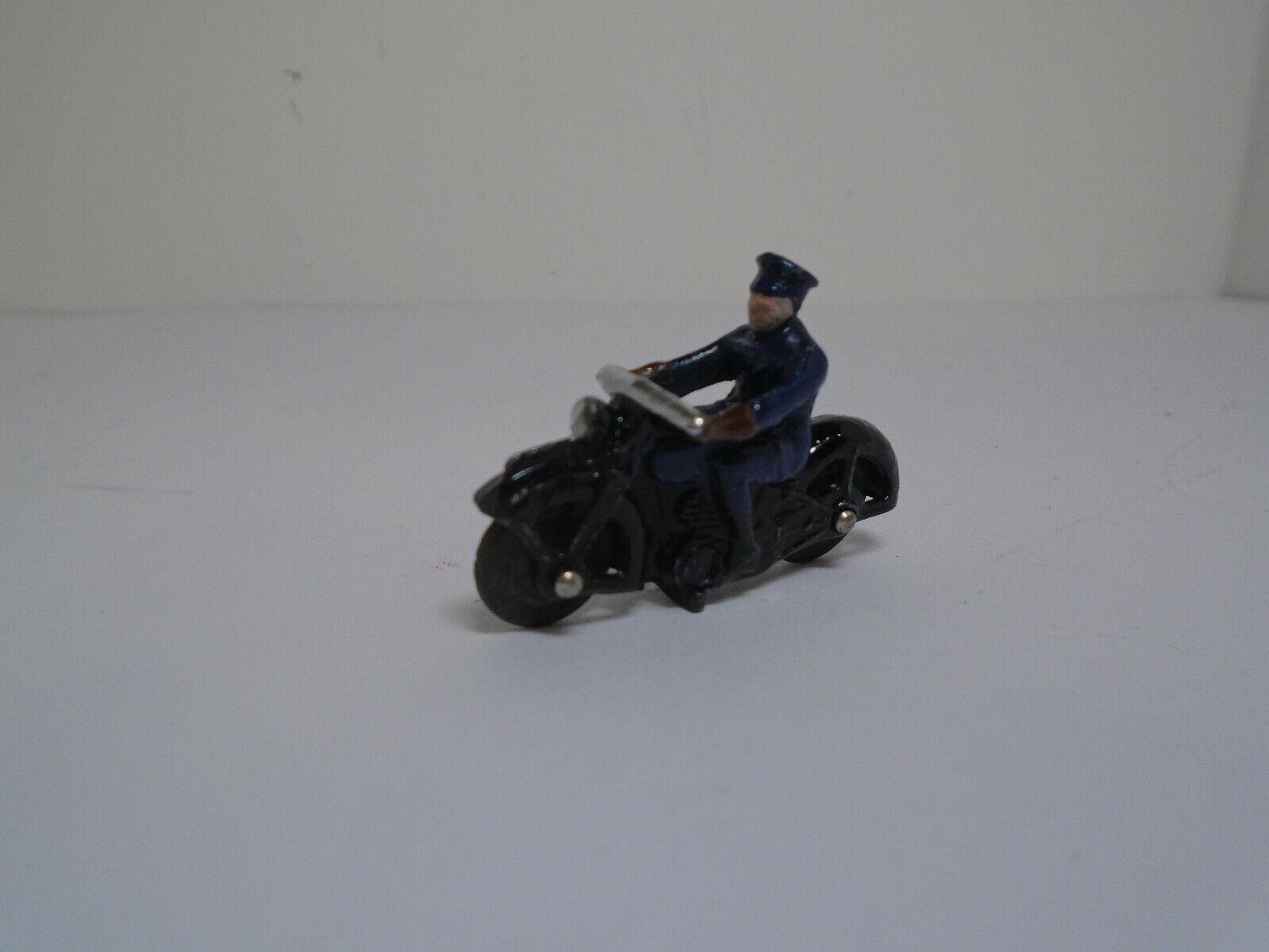 Meccano Dinky Juguetes  37B-G versión 3, 1946 reformado.. casi como nuevo policía motociclista.