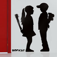 Banksy Stencils Reusable Wall Art Decor Boy Meets Girl Paint Banksy Stencil