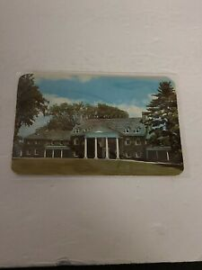 Vintage Postcard Fenimore House New York historical society Color Round Corners