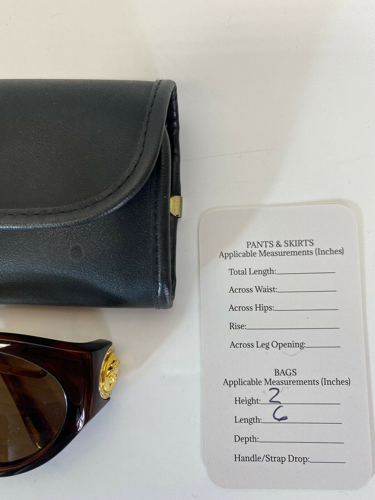 Rare Vtg Gianni Versace Brown Gold Medusa Sunglas… - image 8
