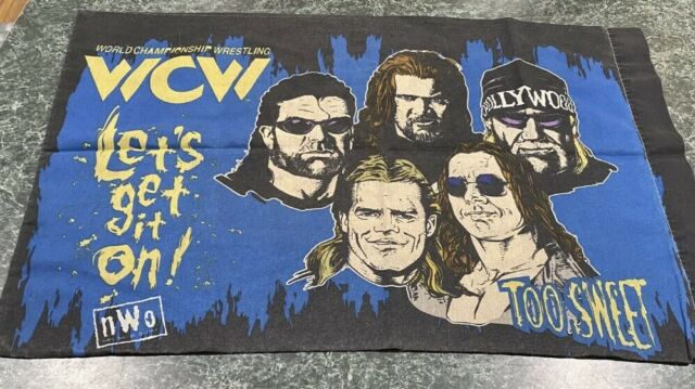 Vintage 1998 WCW NWO World Championship Wrestling Pillow Case Hulk Hogan *RARE*