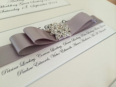 PERSONALISED A3 / A2 LARGE DIAMANTE CLUSTER WEDDING SEATING PLAN