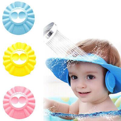 Soft Baby Kids Children Shampoo Bath Bathing Shower Cap Hat Wash Hair Ear Shield Ebay