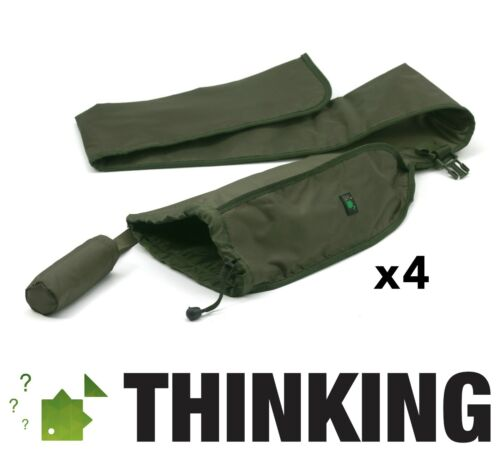 Thinking Anglers Single Rod Sleeves x 4 Olive Band New FREE DELIVERY