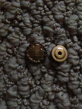 Rotary Club 10K Karat Solid Yellow Gold Lapel Pin Wreath Hour Glass Wheel