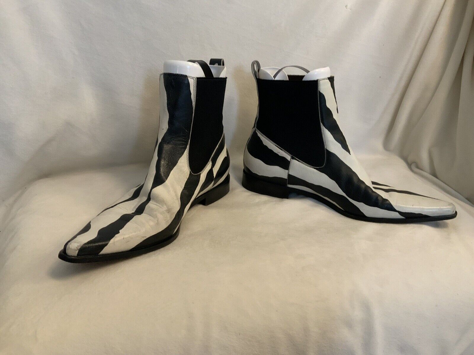 Dolce And Gabbana Ankle Boots Zebra Print Leather  - image 2