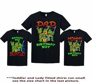 4e9661e105a4f Details about TMNT Ninja Turtles Birthday Shirt custom personalized t-shirt  any NAME Aand AGE