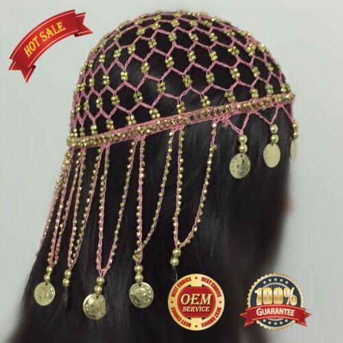 Belly Dance Dancing Headdress Hair net Head Buckle Headband Jewelry