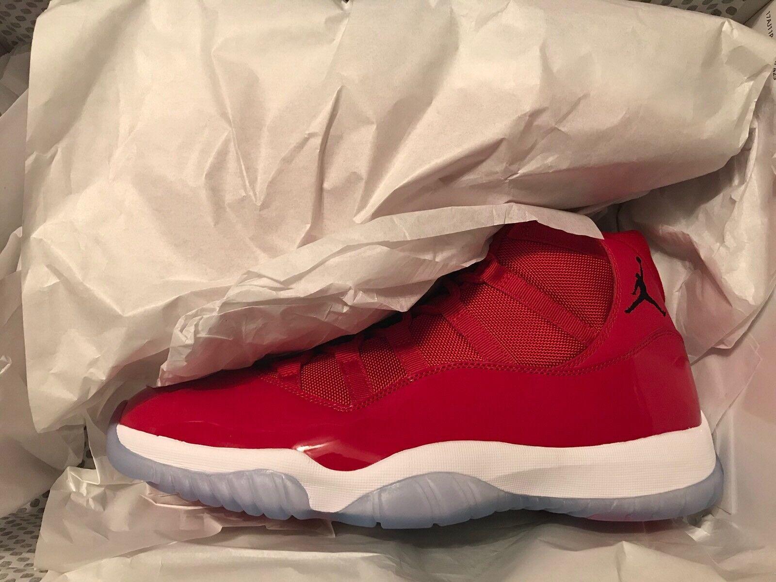 2017 Nike Air Jordan XI Retro 11 WIN LIKE '96  Gym Red  378037-623 Size 13 New