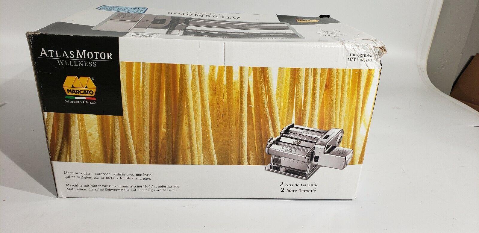 Marcato Atlas Pasta Maker Avec Moteur Fixation, made in Italie 100 W NOUVEAU