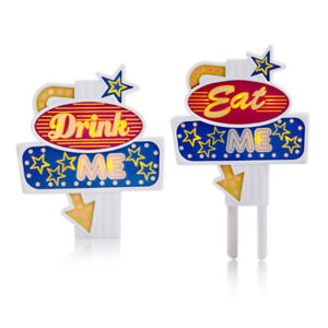 Flashing-Topper-Suck-UK-034-Eat-Me-034-034-Drink-Me-034-Kuchen-Torten-Flaschen-LED-Deko
