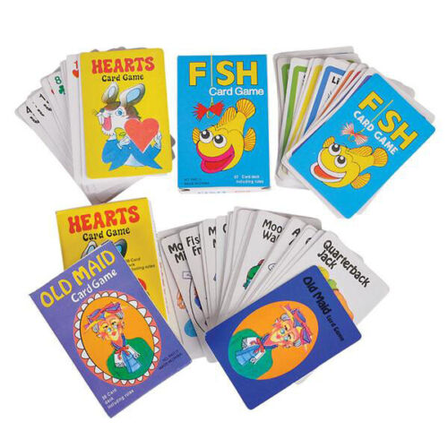 12 PCS Classic Card Game Assortment Kids Toys Gifts Prizes Party Favors