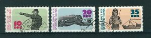 East-Germany-1977-Sports-amp-Technical-full-set-of-stamps-Used-Sg-E1936-1938