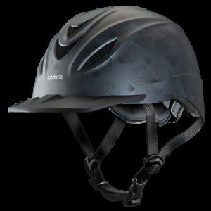 Troxel Riding Helmet Intrepid Grey Petal Duratec Horse Safety Low Profile Equine