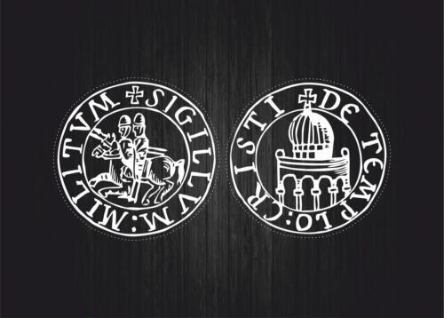 2x Sticker car biker maltese seal airsoft crusader cross templar knights r1