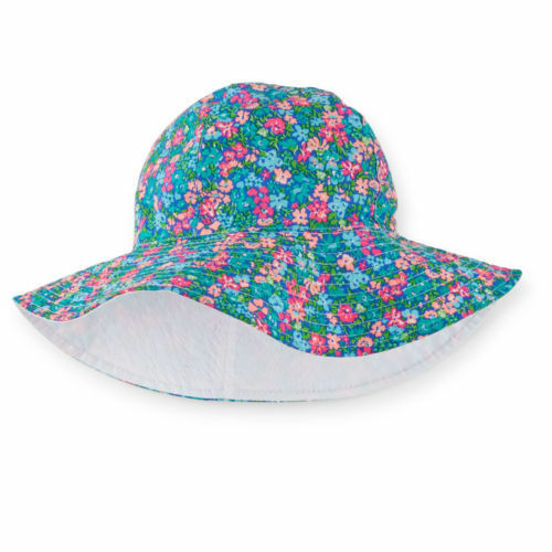 Carter/'s Girl Kids Floral Geometric Maple Leaf Reversible Bucket SunHat 4-6X NWT