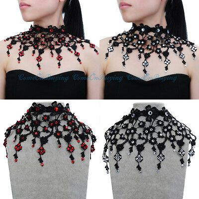 Fashion Jewelry Lace Victoria Collar Punk Choker Statement Bib Pendant Necklace
