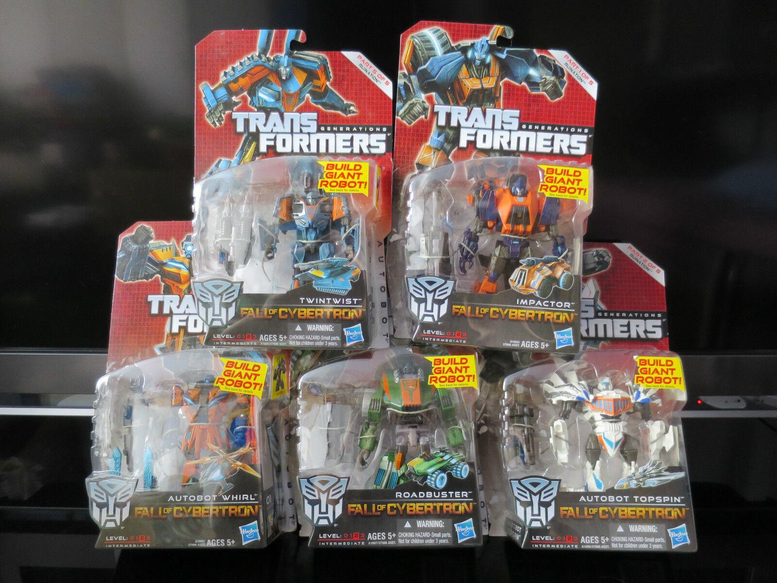 Transformers Generaciones foc completo conjunto de destructores/ruina sin usar y en caja sellada reducido